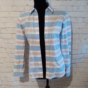 IZOD sz XS striped button down cotton top